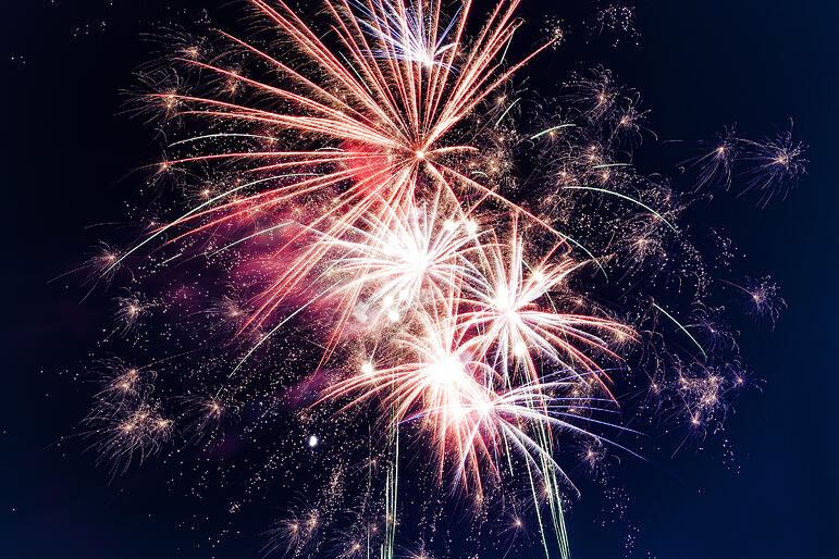 Canva - Low-angle Photo of Fireworks