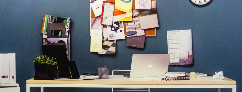 Disorganized office space