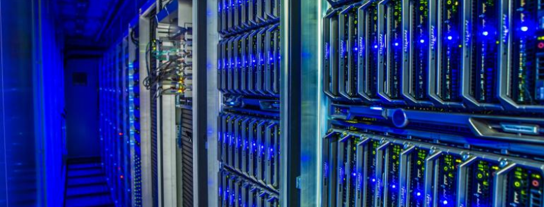 Blue server room