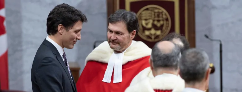 Chief Justice Richard Wagner with Prime Minister Justin Trudeau